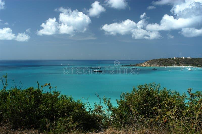 Sandy-Boden, Anguilla lizenzfreie stockfotos