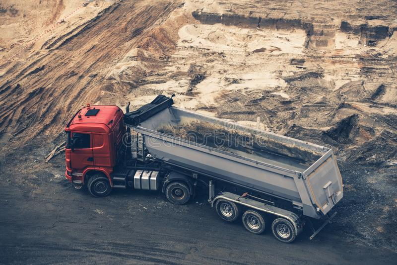 Construction Site Dump Truck royalty free stock photo