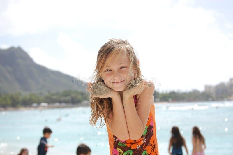 Sandy, cutie Waikiki стоковое изображение rf