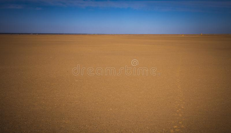 Sandy Desert in China, niemand stockbild