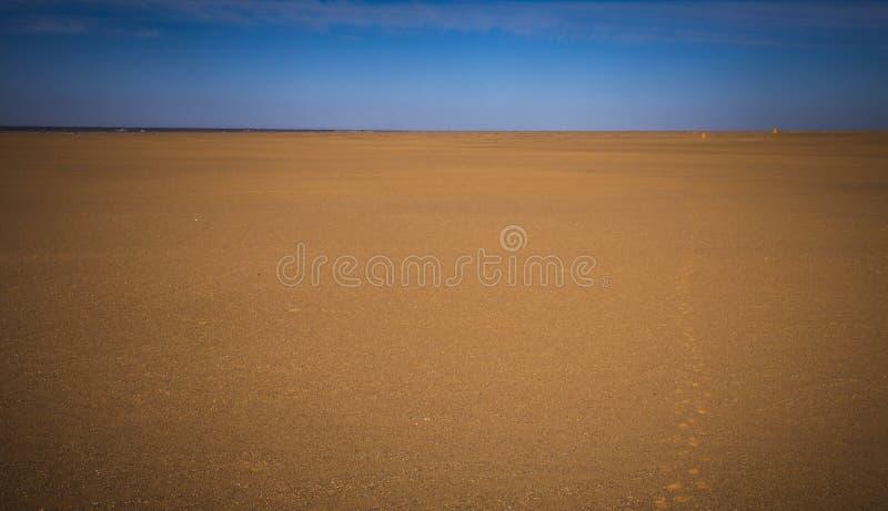 Sandy Desert i Kina, ingen fotografering för bildbyråer
