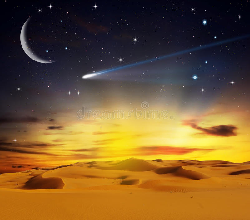 Download Sandy Desert At Sunset Time Stock Photo - Image: 11534826