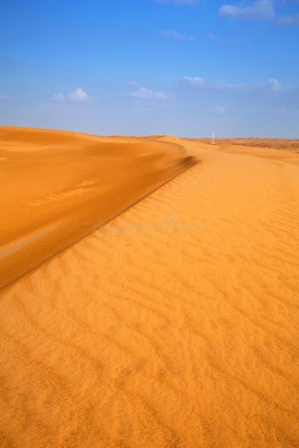Sandy Dunes In The Desert Near Abu Dhabi Stock Photo