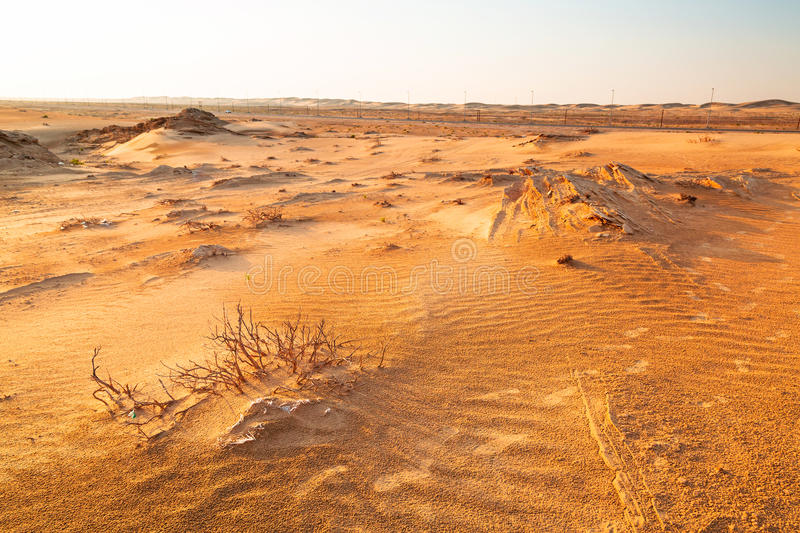 Download Sandy Dunes In The Desert Near Abu Dhabi Stock Photo - Image: 40147626