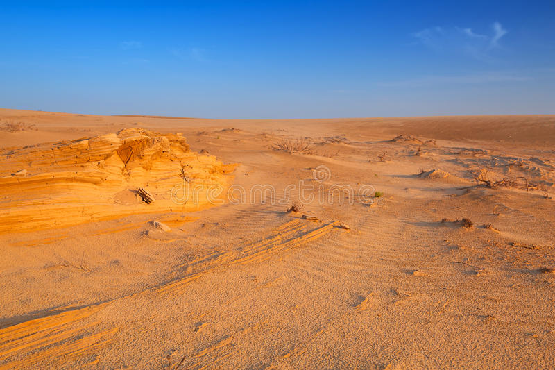 Download Sandy Dunes In The Desert Near Abu Dhabi Stock Image - Image: 40147673