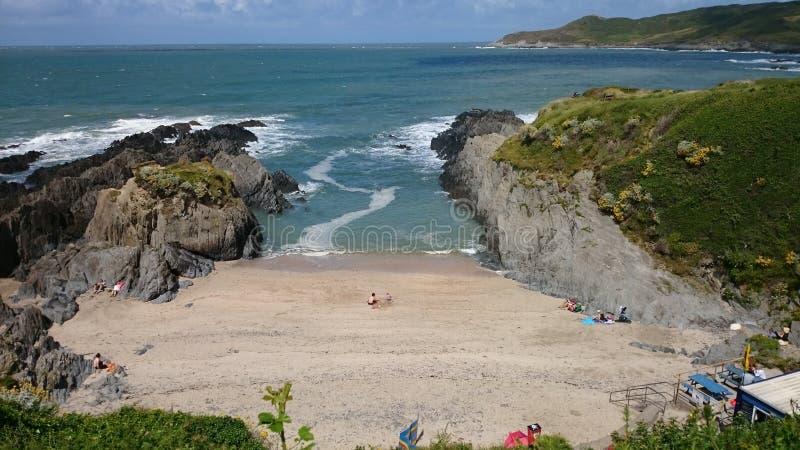 Sandy English Cove fotos de archivo libres de regalías