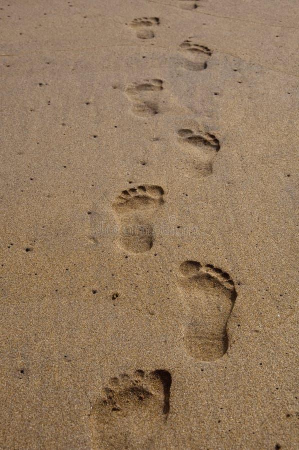 Sandy Footprints Royalty Free Stock Photography