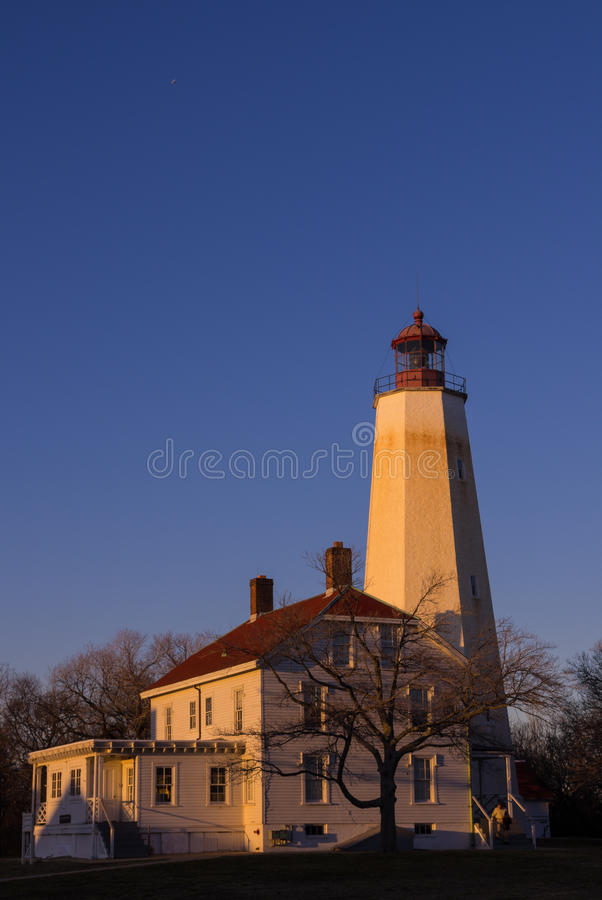 Sandy Hook Fort Hancock Light-Haus stockfotos