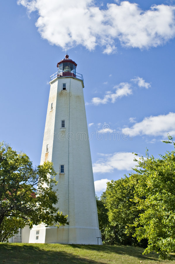 Sandy Hook Lighthouse royalty free stock image