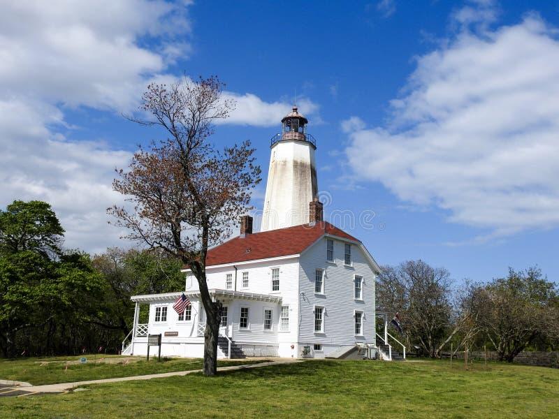 Sandy Hook Lighthouse i Sandy Hook som är ny - ärmlös tröja royaltyfri fotografi