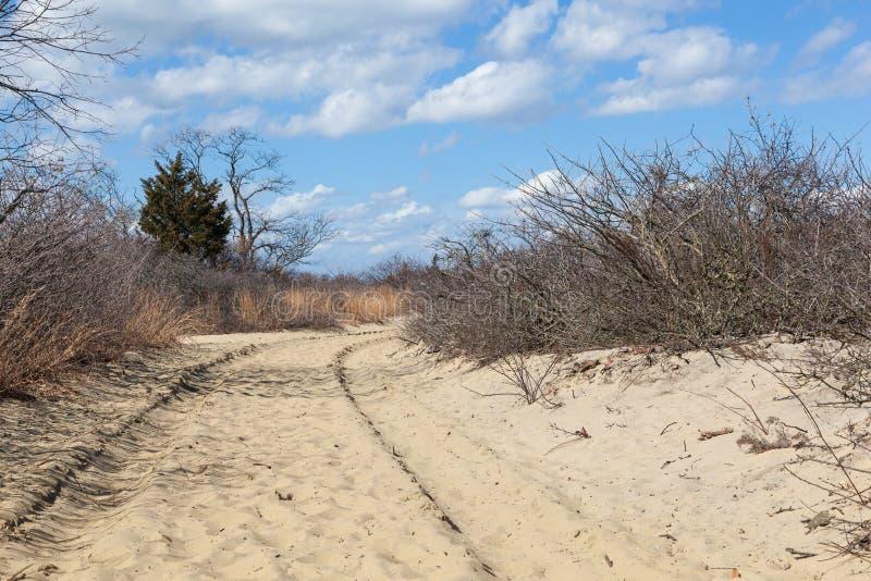 Sandy Hook Trail en parque nacional imágenes de archivo libres de regalías