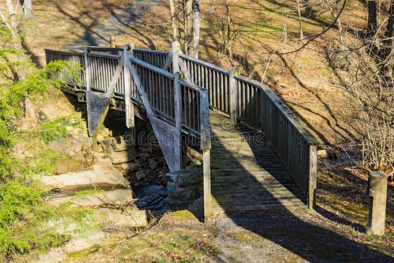 Footbridge at Smith Mountain Dam Picnic Area. Sandy Level, VA – January 8th:Footbridge at Smith Mountain picnic area at the Smith Mountain Hydroelectric stock image
