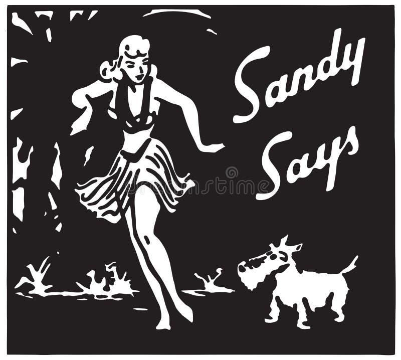 Sandy Mówi 2 ilustracja wektor