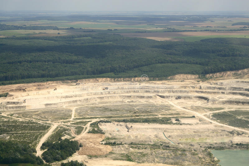 Download Sandy Open-cast Mine. Aerial View. Stock Image - Image of plane, land: 16861223