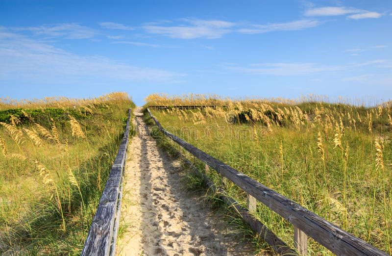 Sandy Path to the Beach stock photography
