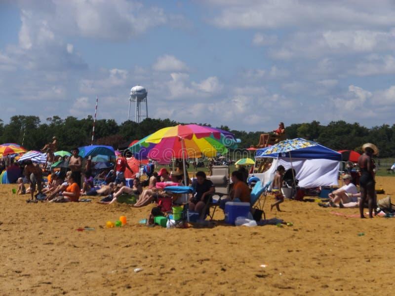 Sandy Point State Park in Maryland lizenzfreie stockfotografie