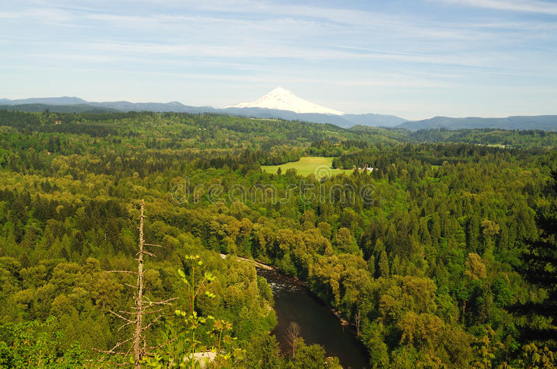 Sandy river valley stock image