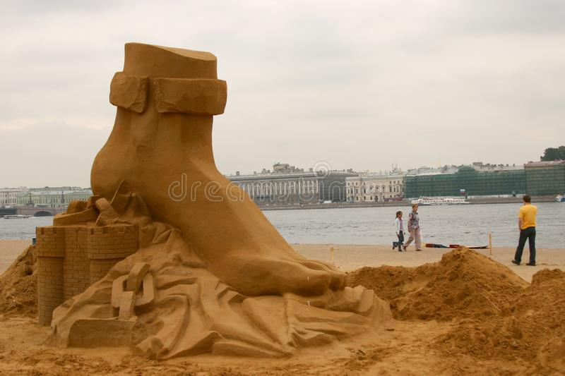 Download Sandy sculpture stock image. Image of sandy, competition - 8097827