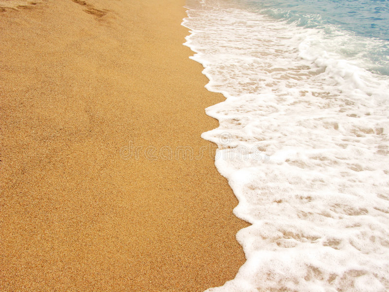 Sandy shore royalty free stock images
