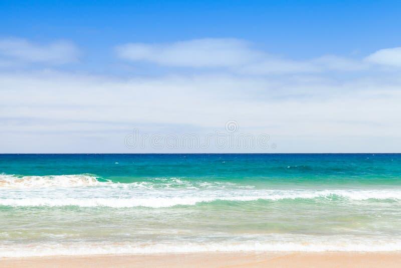 Sandy-Strandlandschaft Insel von Porto Santo stockfoto