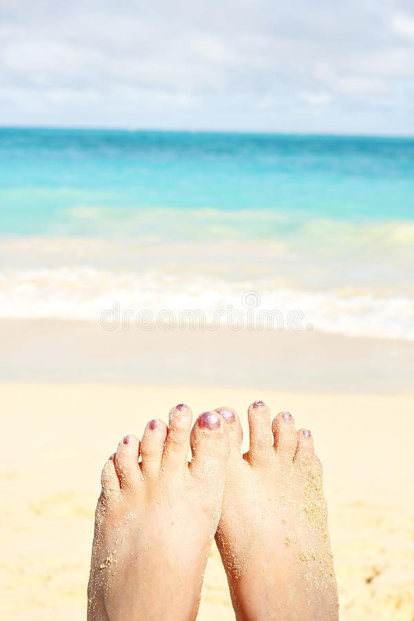 Download Sandy toes stock image. Image of sand, painted, sunny - 24882053