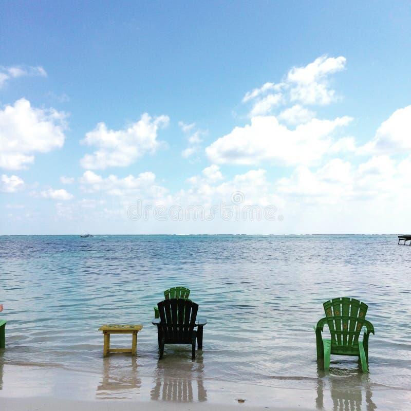 Sandy Toes San Pedro, Amber Caye Belize stock afbeeldingen