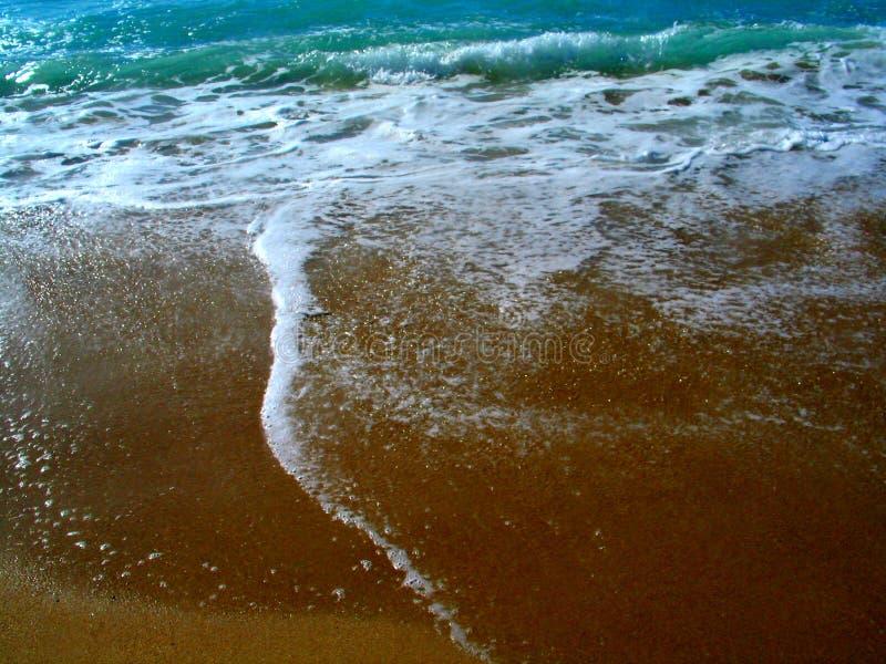 Sandy-Wellen lizenzfreies stockbild