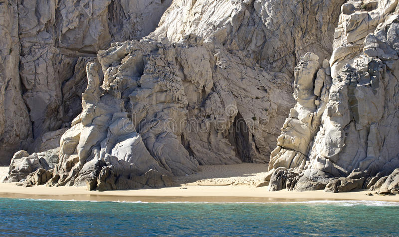 Sandy wild Beach stock image