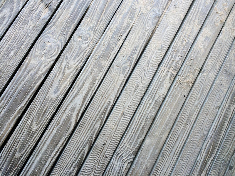 Sandy Wooden Decking Texture foto de archivo