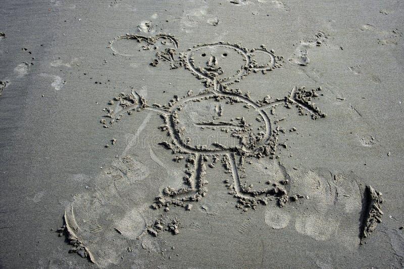 Sandziehen stockfoto