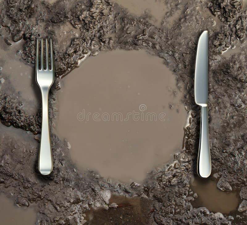 Saneamento do alimento ilustração stock