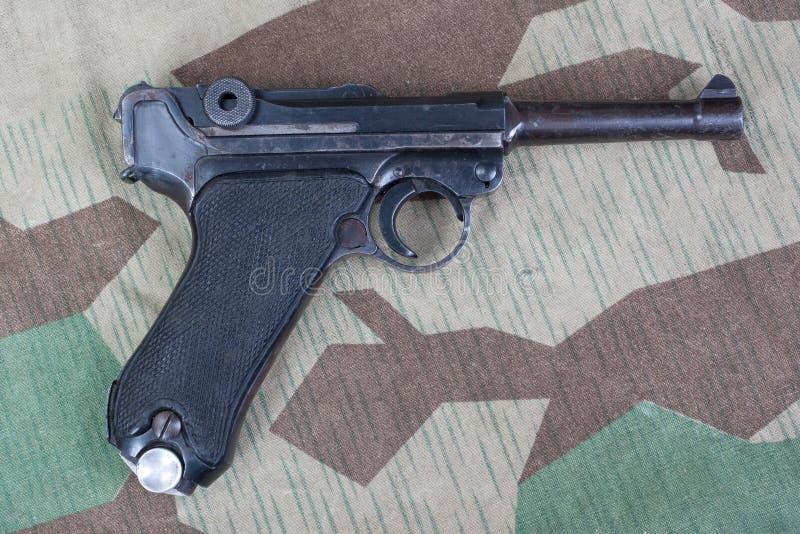 Saneczkarza P08 Parabellum pistolecik obraz royalty free