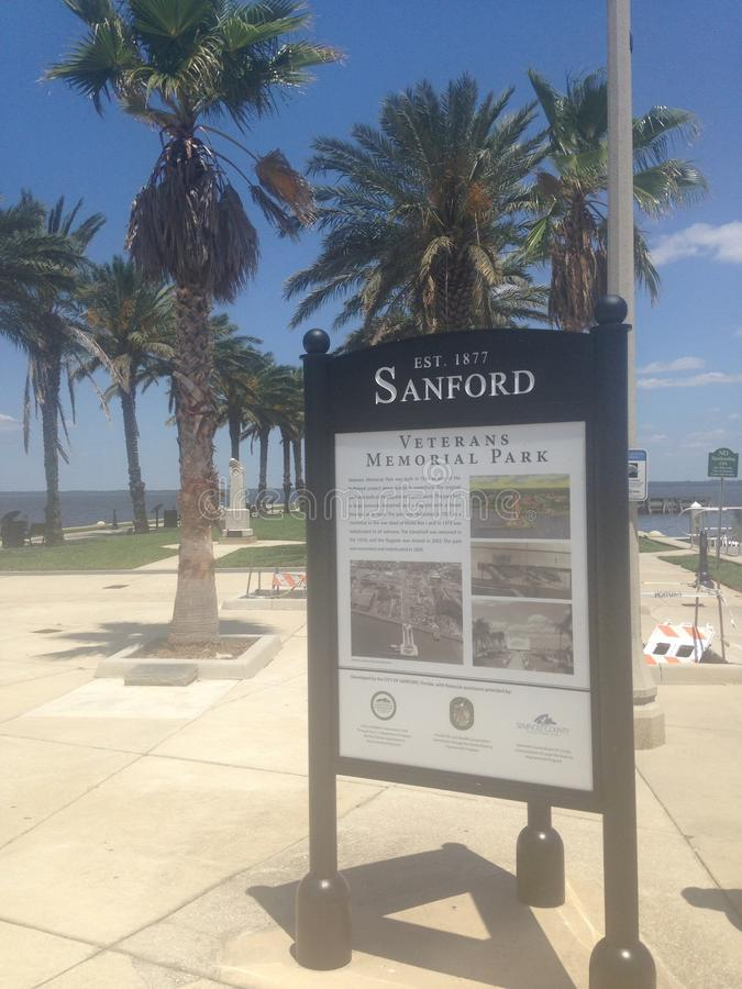 Sanford Florida Riverwalk stock afbeelding