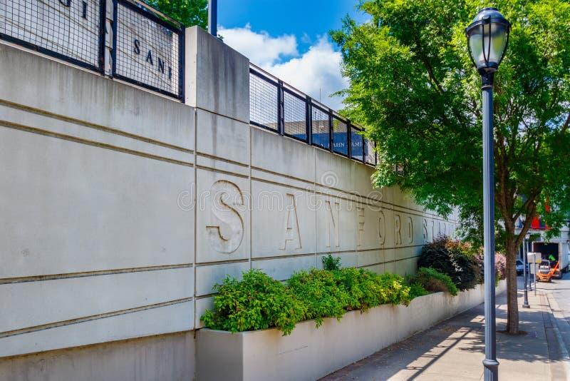 Sanford Stadium en la universidad de Georgia foto de archivo