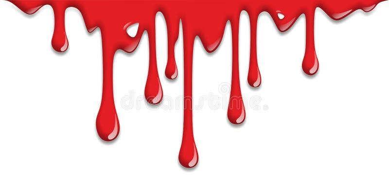 Sang d'égoutture illustration de vecteur