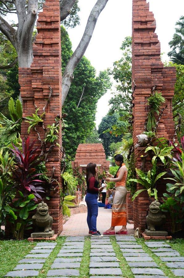 Sang Nila Utama Garden in Fort Canning Park, Singapore stock photos