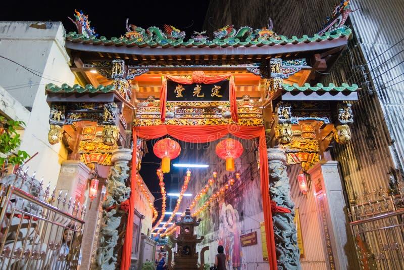 Sang Tham Shrine nel diciottesimo capodanno cinese di Phuket ed in vecchio Phu fotografie stock