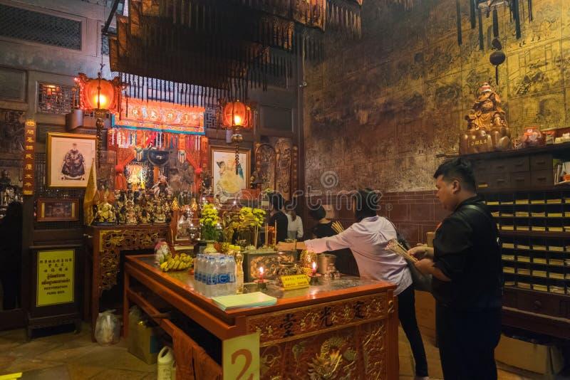 Sang Tham Shrine nel diciottesimo capodanno cinese di Phuket ed in vecchio Phu immagini stock libere da diritti