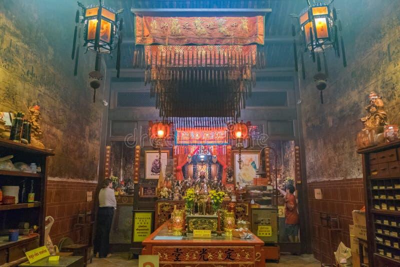 Sang Tham Shrine nel diciottesimo capodanno cinese di Phuket ed in vecchio Phu immagine stock