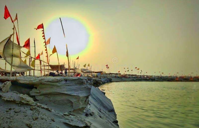 Sangam del fiume fotografie stock libere da diritti