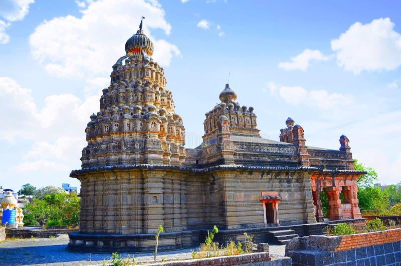 Sangameshwar tempel nära Saswad, Pune, Maharashtra arkivfoto