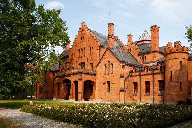 Sangaste-Schloss in Estland stockfotografie