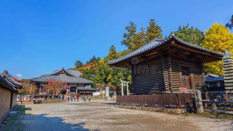 Sangatsu-do Hall of Todai-ji Complex in Nara stock photo