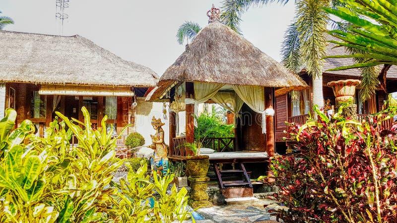 Sangeh Resort Villa in tropical resort royalty free stock photo