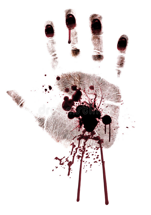 Sanglant main-estampez peint d'isolement illustration de vecteur