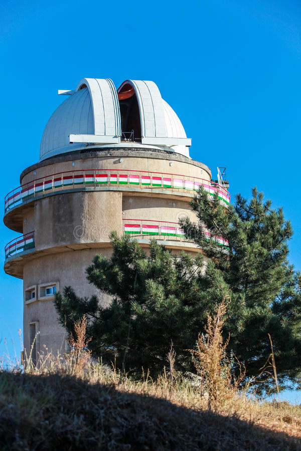 Sanglok-Raumobservatorium in Nurek Tadschikistan stockbilder