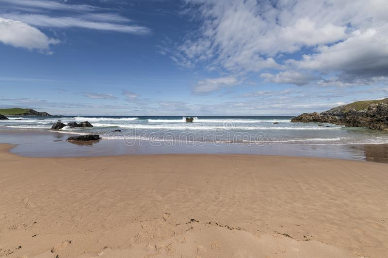 Sango bay. Near Durness in Southerland, on the north coast of Scotland stock image