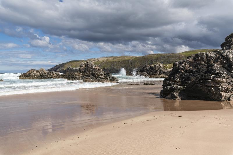 Sango bay. Near Durness in Southerland, on the north coast of Scotland royalty free stock photography