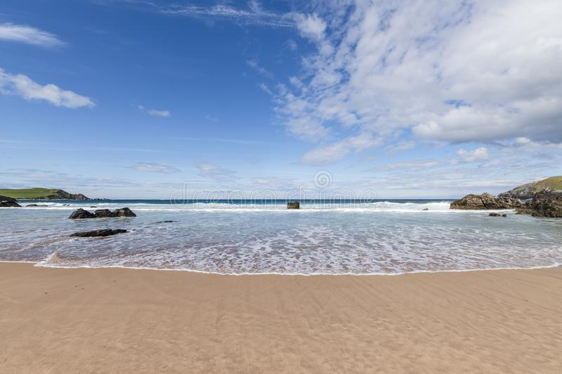 Sango bay. Near Durness in Southerland, on the north coast of Scotland stock photos