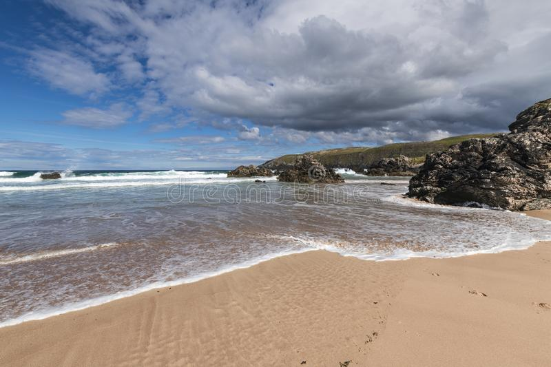 Sango bay. Near Durness in Southerland, on the north coast of Scotland royalty free stock photos
